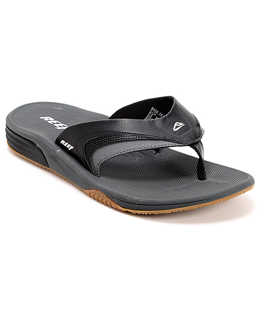 Reef Phantom Player All Black Sandals