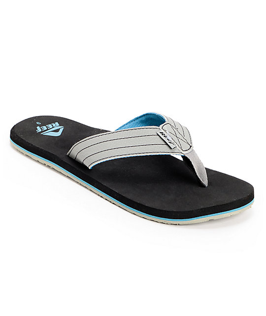 Reef Quencha TQT Black, Grey & Blue Sandals