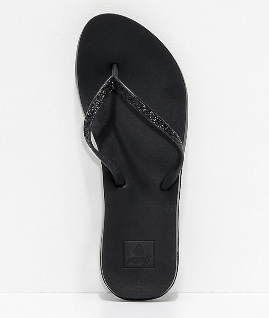 Reef Stargazer Cushion Bounce Black Sandals