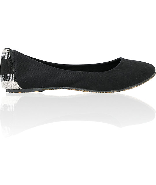 Reef Tropic Bella Costa Black Stripe Slip On Shoes