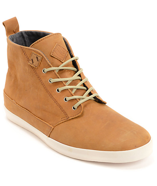 fe2a2586e6d Reef Walled Brown Full Grain Leather Shoes | Zumiez