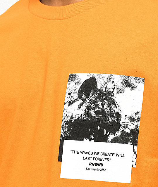 Renowned Hyena Dreams Orange T-Shirt