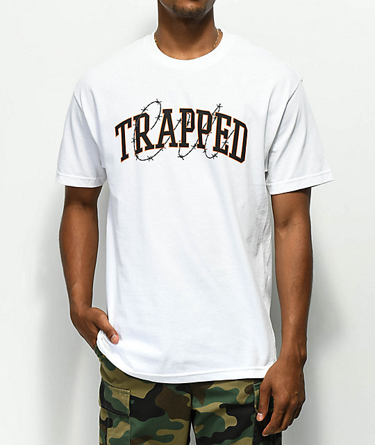 Renowned Trapped Barbed Wire White T-Shirt