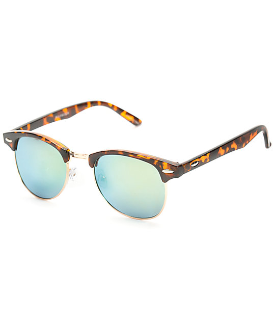 Retro Kruz Tortoise & Gold Revo Sunglasses