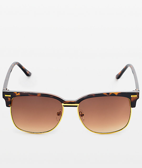 Retro Tortoise & Gold Sunglasses