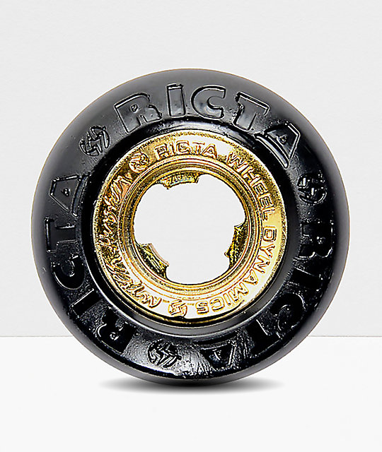 Ricta Nyjah Black & Gold Core 53mm 99a Skateboard Wheels