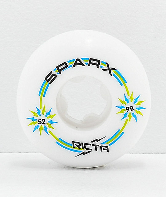 Ricta Sparx 52mm 99a White Skateboard Wheels