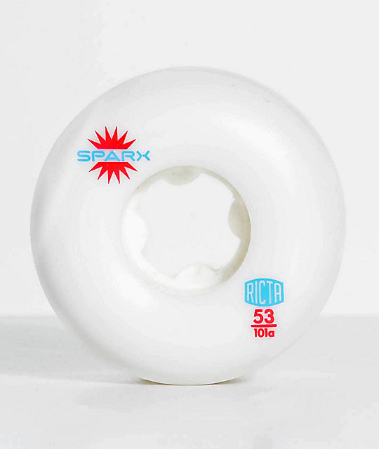 Ricta Sparx 53mm 101a White Skateboard Wheels
