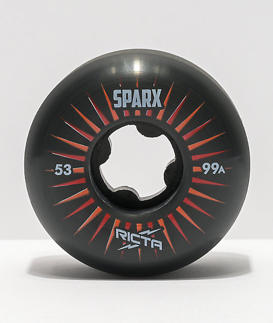 Ricta Sparx 53mm 99a Black Skateboard Wheels