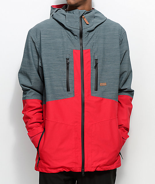 Ride Forge Slate Red 15K Snowboard Jacket