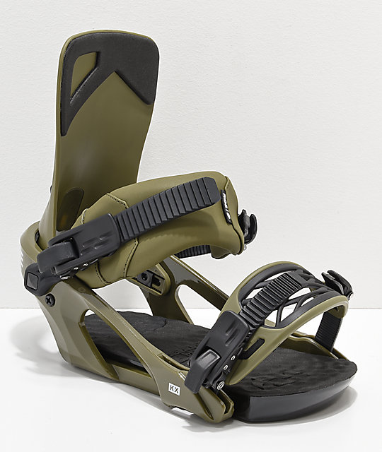 Ride KX Olive Snowboard Bindings 2019