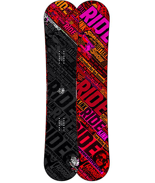 Ride Kink 156cm Twin Rocker Wide Snowboard