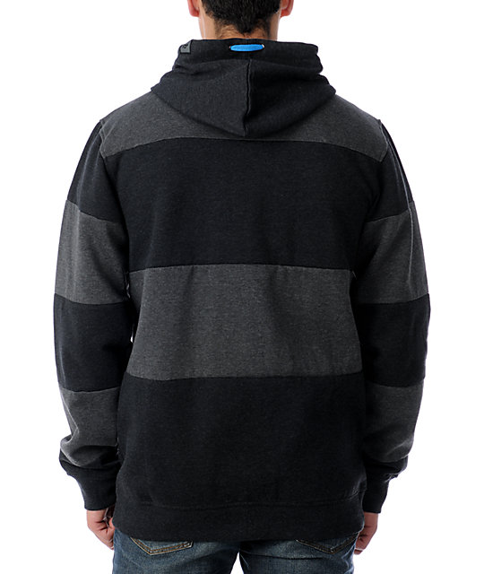 Ride Snowboards Cut Stripes Black Hoodie
