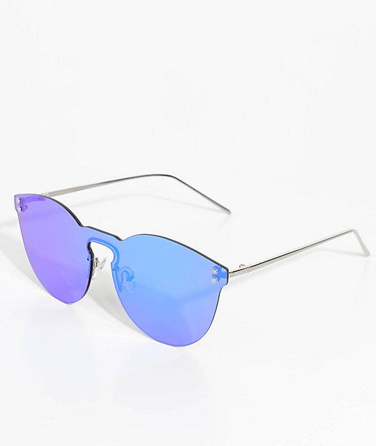 55d8adbe3f7 Rimless Green Mirrored Sunglasses