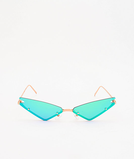Rimless Micro Cat Eye Sunglasses