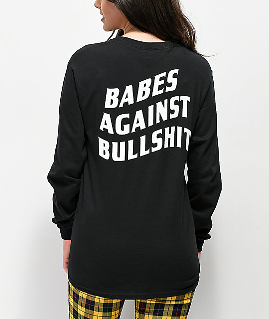 Riot Society Babes Against Bullshit Black Long Sleeve T-Shirt