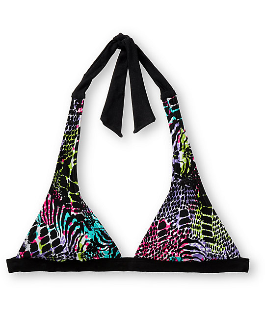 Rip Curl Magic Jungle Black Halter Top