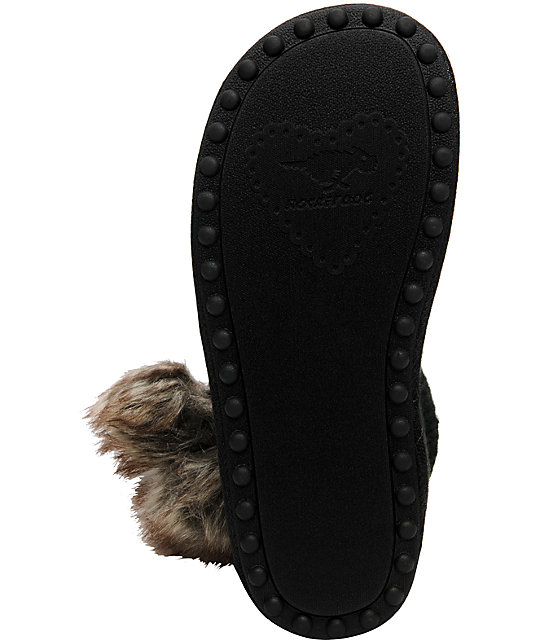 Rocket Dog Snowflake Black Slippers
