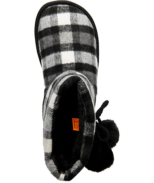 Rocket Dog Snowflake Black Timbercheck Slippers