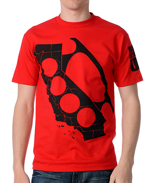 Rogue Status Cali Knuckle Red T-Shirt