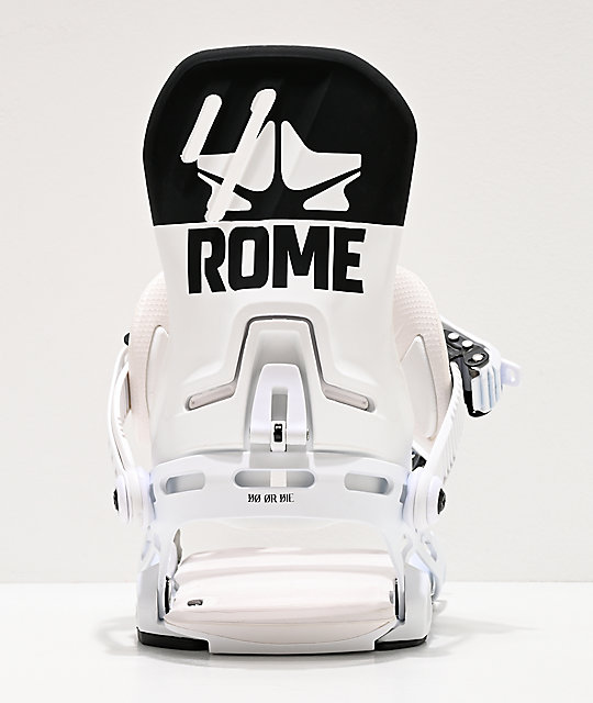 Rome D.O.D. White & Black Snowboard Bindings 2020