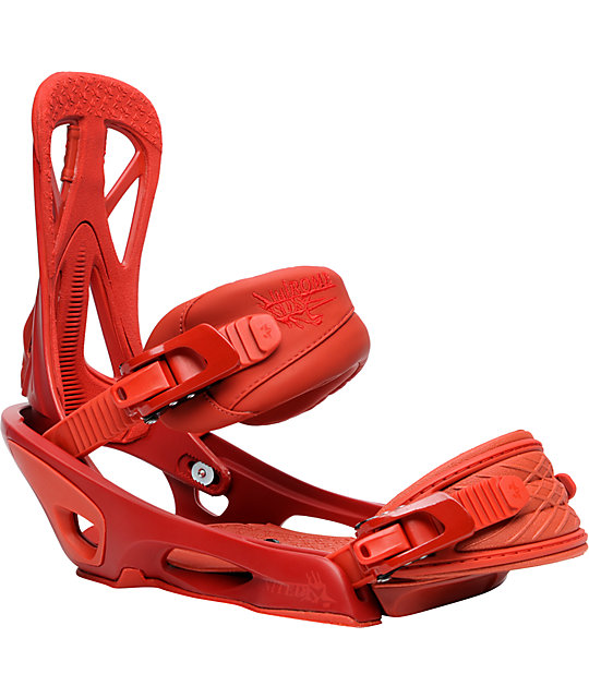 Rome United Red Mens Snowboard Bindings