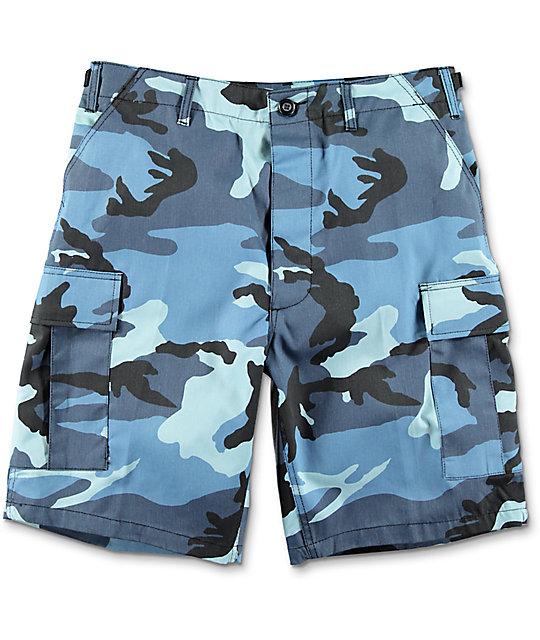 Rothco BDU Blue Camo Cargo Shorts  c260b534df2