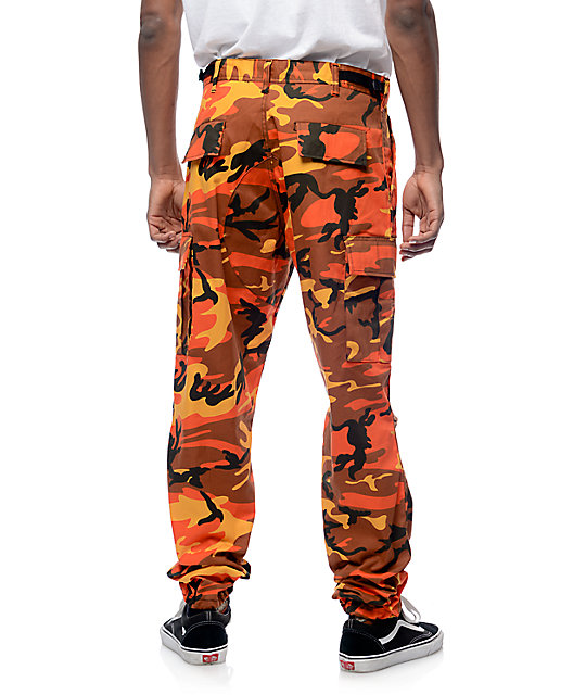... Rothco BDU Savage Orange Camo Cargo Pants ... 4f9ebdbcf5e