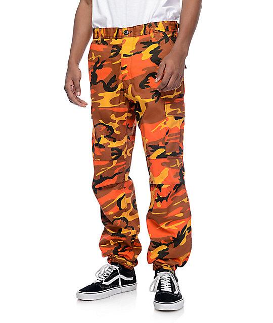 offre spéciale matériau sélectionné offrir des rabais Rothco BDU Savage Orange Camo Cargo Pants