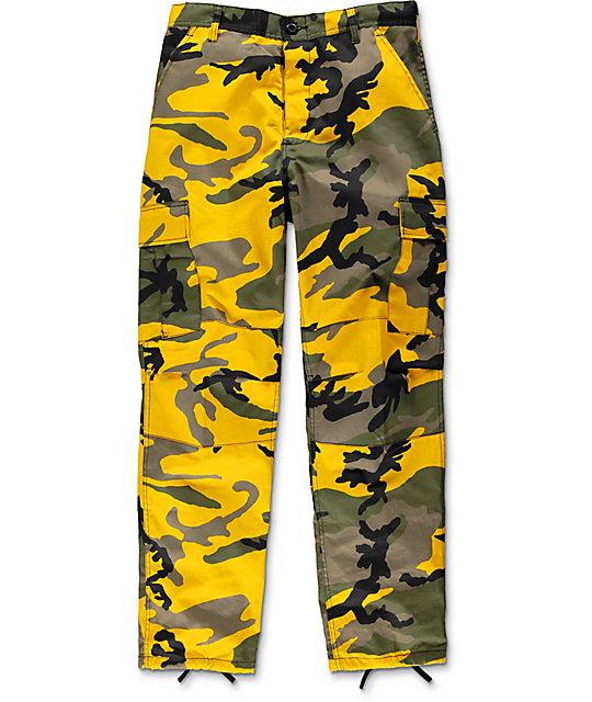 ... Rothco BDU Stinger Yellow Camo Cargo Pants ... db074226e1e