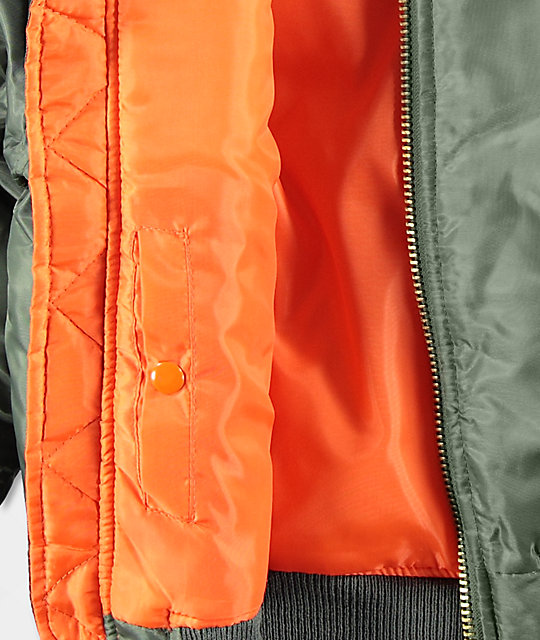 Rothco Boys Ma 1 Olive Blaze Orange Reversible Er Jacket
