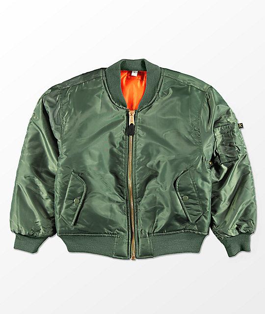 Rothco Boys MA-1 Olive   Blaze Orange Reversible Bomber Jacket  2bb48dd6b