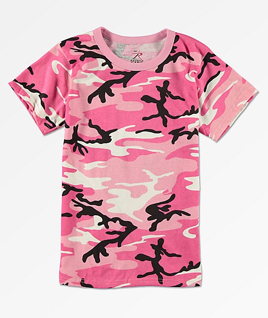 10c4527c Rothco Boys Pink Camo T-Shirt   Zumiez