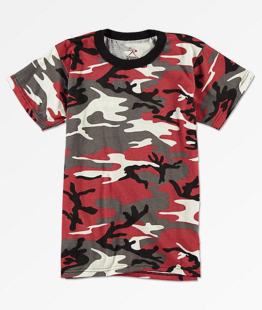 334de545 Rothco Boys Red Camo T-Shirt | Zumiez
