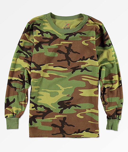 3d9f9688a Rothco Boys Woodland Camo Long Sleeve T-Shirt | Zumiez