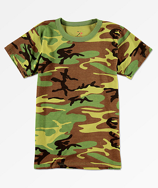 Rothco Boys Woodland Camo T-Shirt