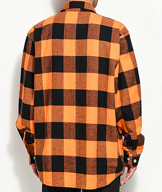 Rothco Heavy Orange Flannel Shirt