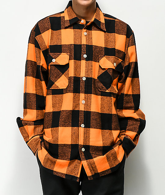 2f5e1d858d4 Rothco Heavyweight Orange Flannel Shirt