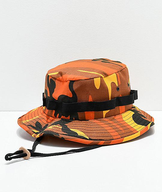 Rothco Jungle Orange Camo Bucket Hat  48b19c136333