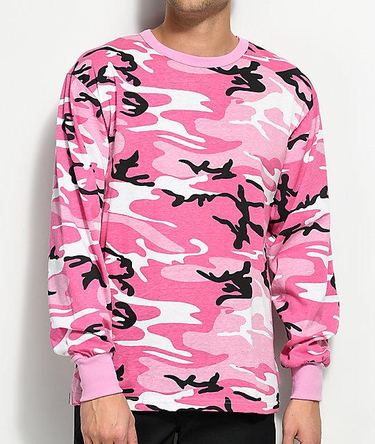 Rothco Pink Camo Long Sleeve T-Shirt  7e551002c83
