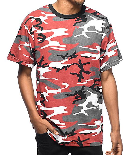 95127a81 Rothco Red Camo T-Shirt   Zumiez