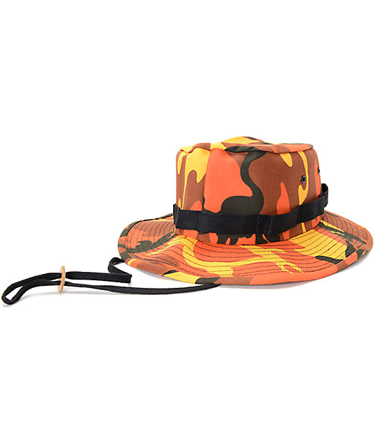 Rothco Savage Orange Camo Boonie Bucket Hat