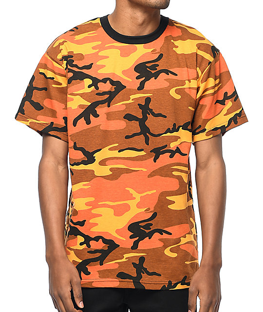 cd24a031 Rothco Savage Orange Camo T-Shirt | Zumiez