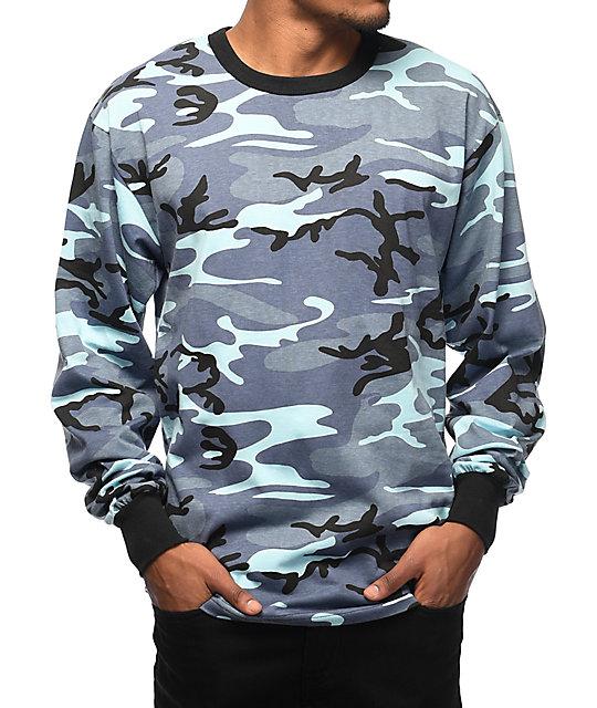 Rothco Sky Blue Camo Long Sleeve T-Shirt  8e7f582ad47