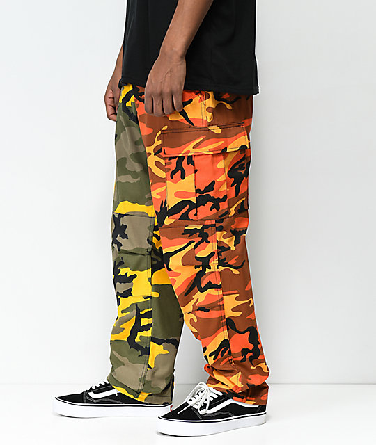 ... Rothco Split Yellow   Orange Camo Cargo Pants ... 4d4a70b7c32
