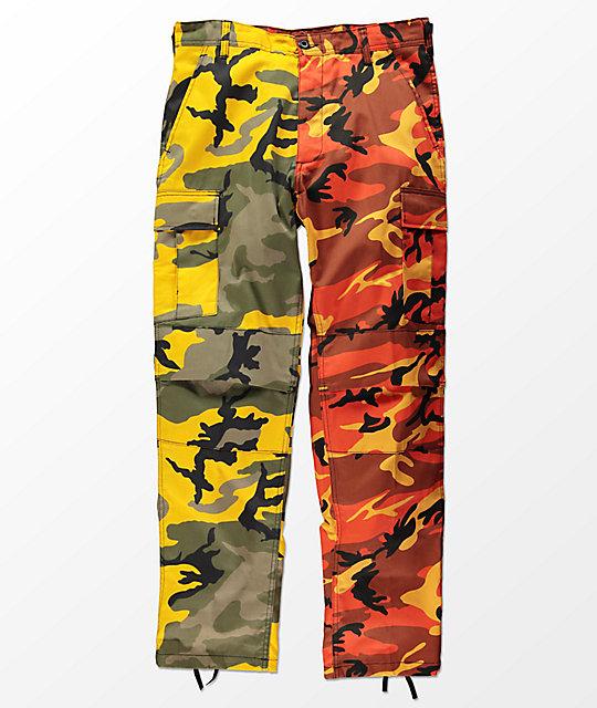 Rothco Split Yellow   Orange Camo Cargo Pants  9bd63980ef9