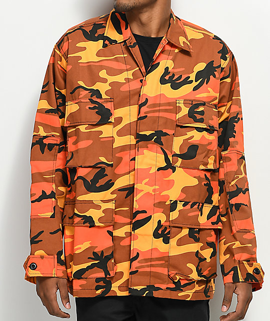 Rothco Tactical BDU Savage Orange Camo Shirt