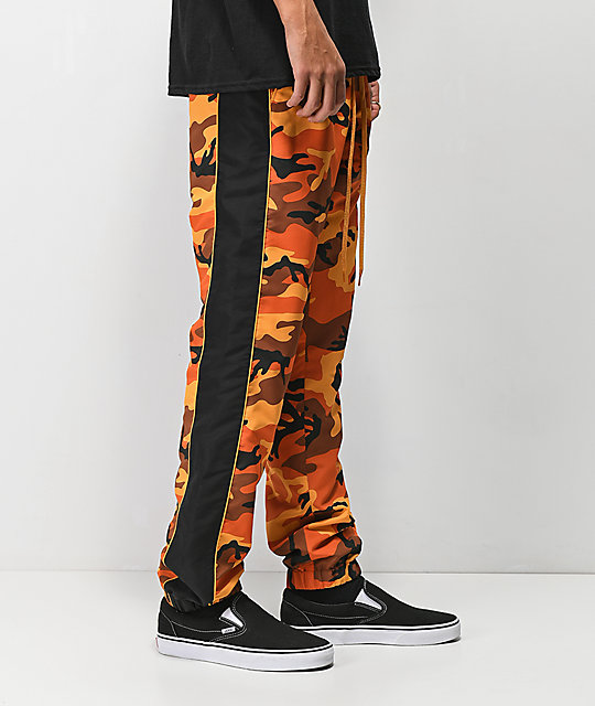 Rothco x Vitriol Jinx Orange Camo Jogger Pants