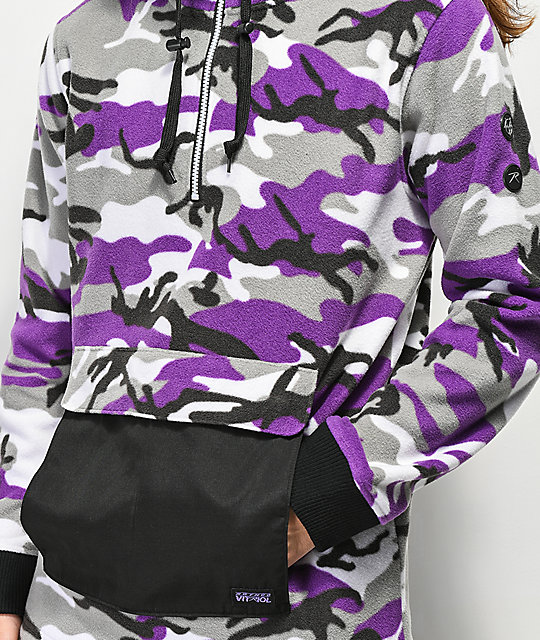 Rothco x Vitriol Y2K Purple Anorak Fleece Jacket
