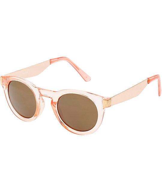 fe805dbd5b Rounded Cat Eye Pepper Pink Sunglasses